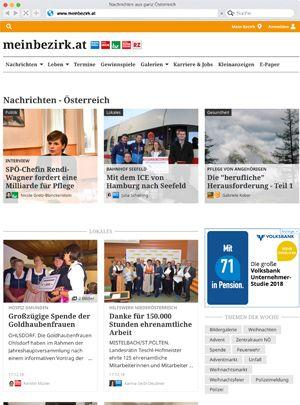 meinbezirk.at (RMA, Bezirksblätter, meine WOCHE, bz-Wiener Bezirkszeitung, BezirksRundschau Oberösterreich, Online, Regionaut)